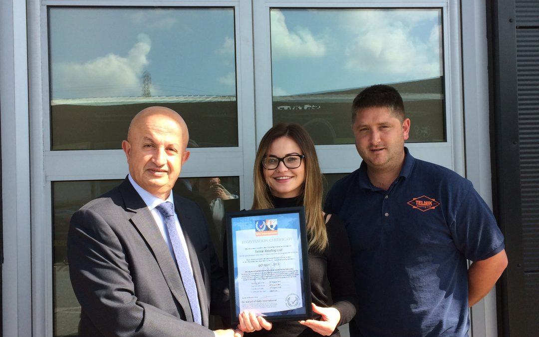 Telnik Roofing Ltd are working towards being an ISO 9001 accredited company!